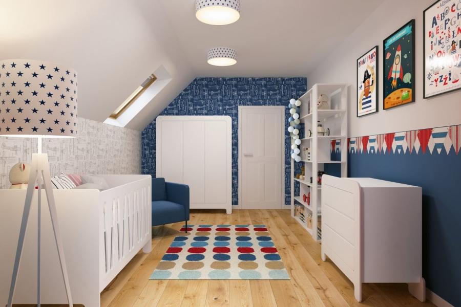 projektowanie wnetrz pokoju dla chopca - app proste wnetrze krakow